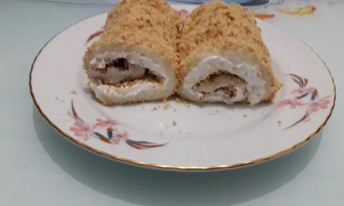 Bisküvili Tavuk Göğsü Sarma