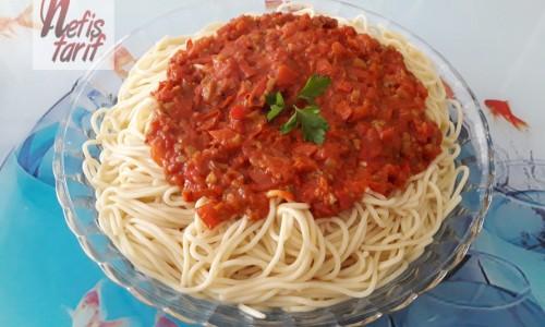 Nefis Domates Soslu Spagetti
